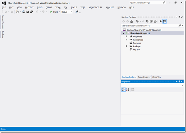 VS2012 - Nouvelle solution