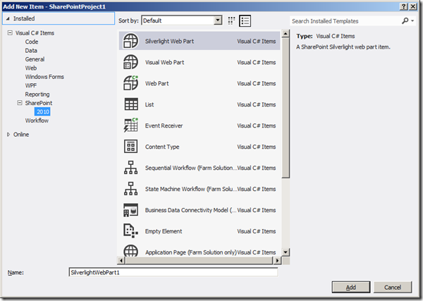 Visual Studio 2012 - Gallerie Items 1