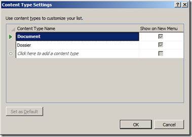 Visual Studio 2012 - Content Type
