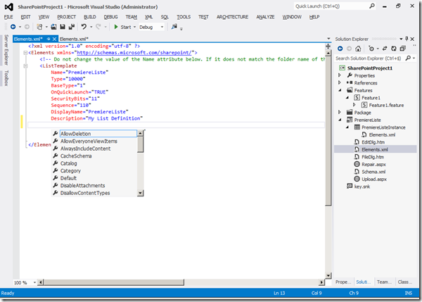 Visual Studio 2012 - XML2