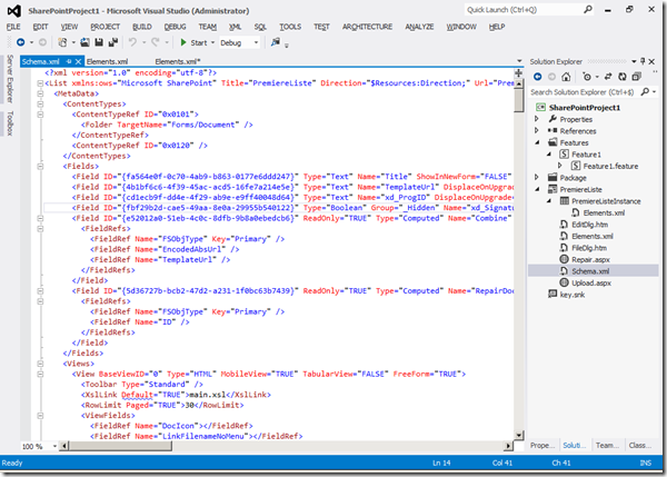 Visual Studio 2012 - XML1