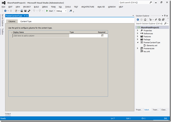 Visual Studio 2012 - Columns 1