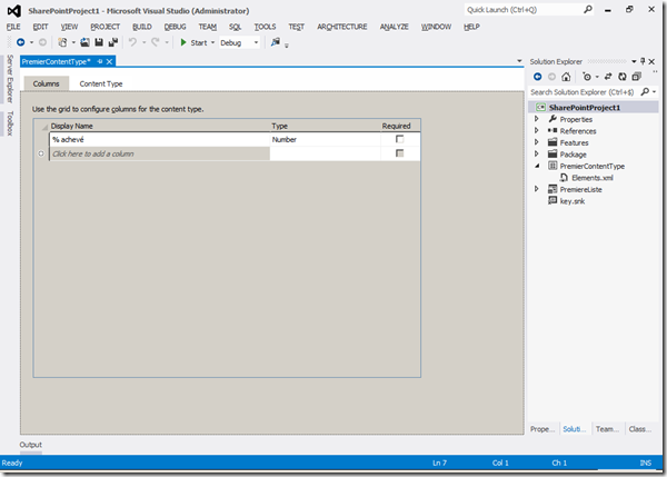 Visual Studio 2012 - Columns 3