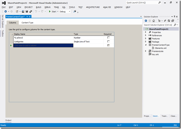 Visual Studio 2012 - Columns 4
