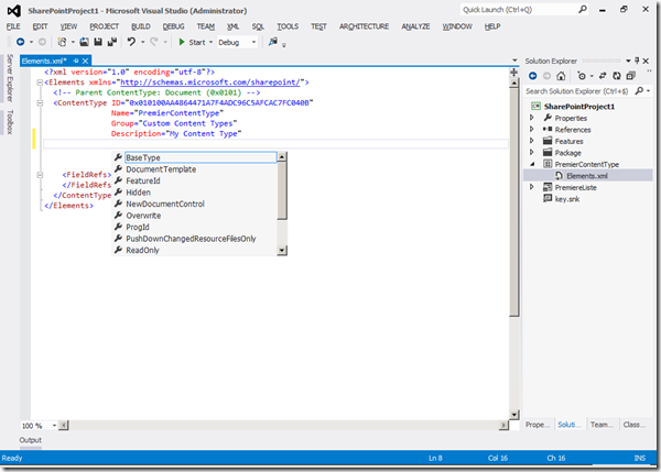 Visual Studio 2012 - IntelliSense