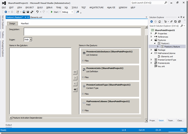 VS2010 - Feature